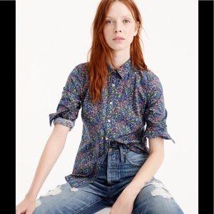 J Crew Catesby Liberty Fabric Shirt 12
