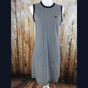 Tommy Hilfiger Striped Knit Dress Blue White