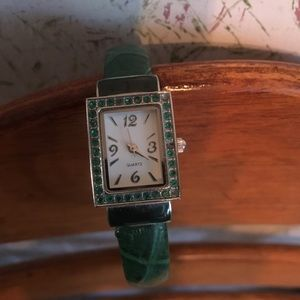 Avon Quartz green Cuff watch