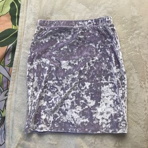 Lavender Velvet Bodycon Skirt