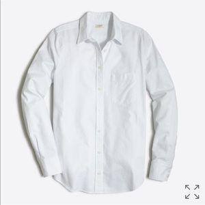 J. Crew White perfect Fit Shirt - M