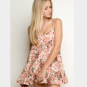 Brandy Melville Jada Rose Pink Floral Dress