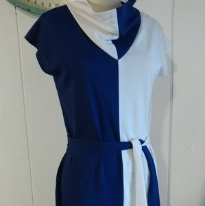 Vintage Mod Shift Go Go dress colorblocked
