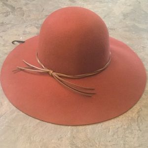 New forever 21 wool floppy hat red rust orange