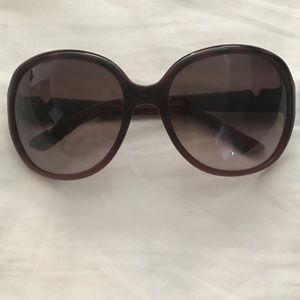 Dark Burgundy Valentino sunglasses