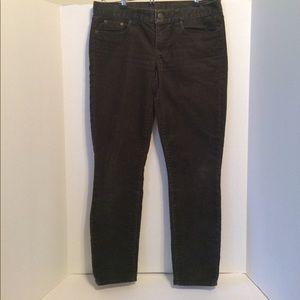 J.Crew Corduroy Toothpick Ankle Pants Charcoal