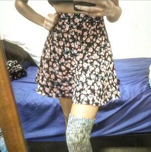 Highwaisted/ Floral Skater Skirt