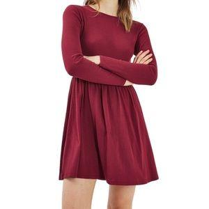 New Topshop Tie Back Skater Dress size 8