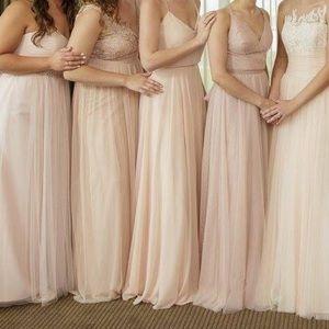 Pale Pink Jenny Yoo Bridesmaid Dress