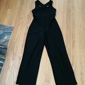 VTG All Black Sexy Tight Jumpsuit!♡
