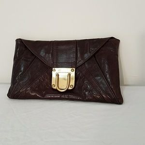JOCASI London Brown Leather Clutch bag