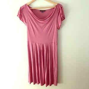 Banana Republic silk flutter sleeve blush dress