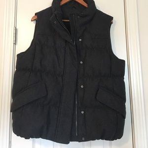 Gap dark grey wool puffer vest