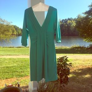 Teal BCBG long sleeve dress size S