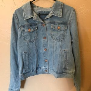 Forever 21 denim jacket with satin back