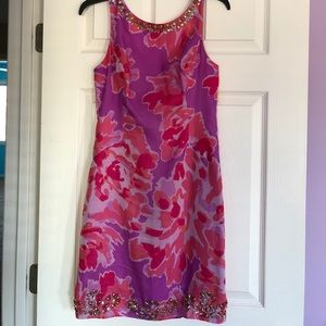 Lilly Pulitzer Beaded Shift Dress. Size 6