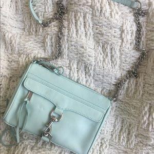 Mint Rebecca Minkoff mini Mac bag