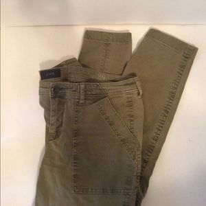 J. Crew Olive Skinny Ankle Utility Style Chinos
