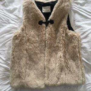 "Zara girls faux fur vest ""soft collection"""