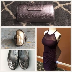 GORGEOUS bridesmaid dress eggplant purple