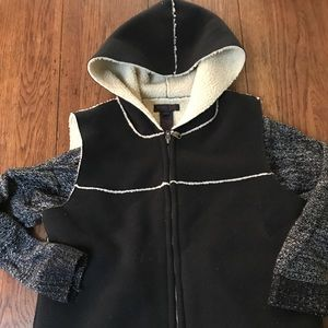 Ralph Lauren Faux Shearling Vest and Sweater S