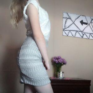 H&M dark and light grey Aztec pencil skirt