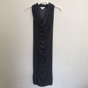 Helmut Lang Draped Slinky Dress