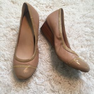 Cole Haan Tan Wedges Excellent Condition