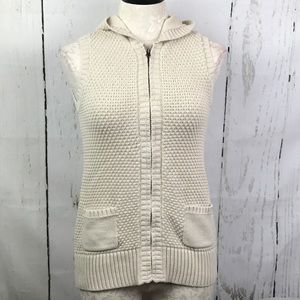 Old Navy Crocheted Front Hooded Cardigan