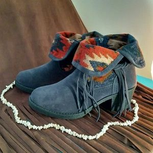 Southwestern Native ankle boots