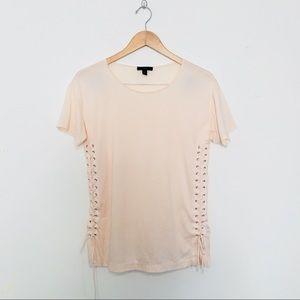 J Crew Lace-Up Tunic T-shirt