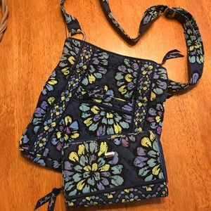 Vera Bradley crossbody bag with wallet