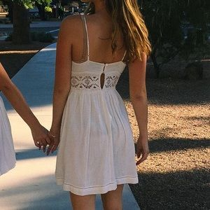 Topshop White Sundress