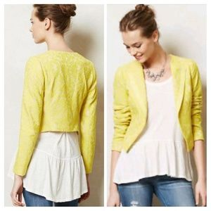 Elevenses Cropped Lace Topper Jacket