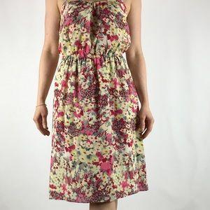 BANANA REPUBLIC 💯 Silk floral dress NWOT S