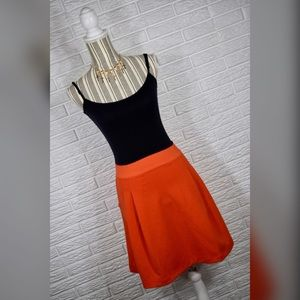 {gap} Orange Pleated Skirt