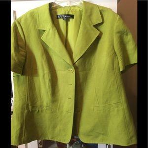 Lined linen jacket