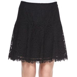 Joie black lace miniskirt