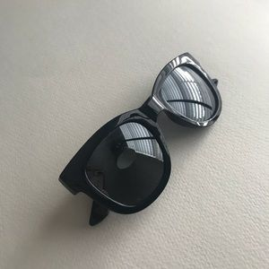 Loft navy blue retro sunglasses