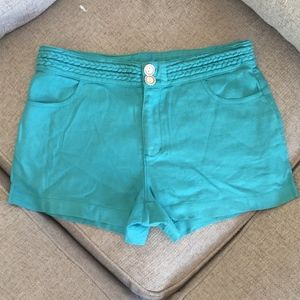Ella Moss Linen Shorts with Braid detail on band