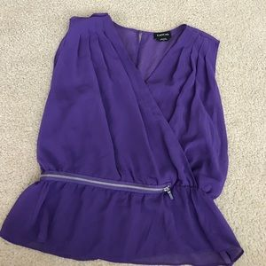 Purple bebe blouse
