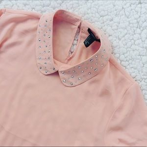 Forever 21 NWT Pink Peterpan Blouse Sz L