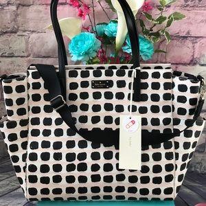 Kate Spade Island Pink Grove Strt Diaper Baby Bag