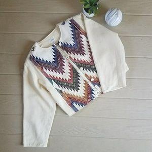 Vintage Guatemalan Boho Chic Cropped Jacket