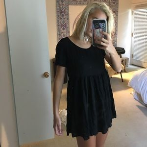 BRANDY MELVILLE BLACK BABYDOLL DRESS