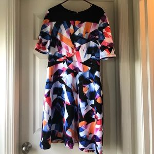 Maggy London scuba fit and flare dress. Size 16