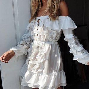 FOR LOVE AND LEMONS CAROLINA OFF SHOULDER DRESS