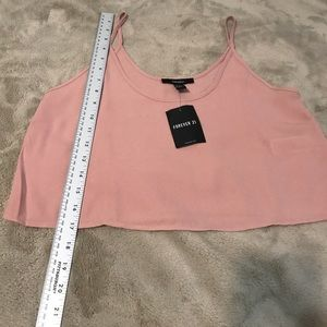 Blush pink forever 21 crop top