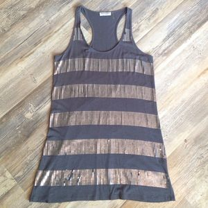 Michael Stars sequin racerback tank dress