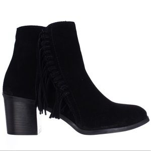 NEW Kenneth Cole Rotini Side-Fringe Ankle Boots